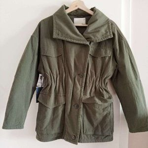 Aritzia Wilfred Free Ruby Military Jacket